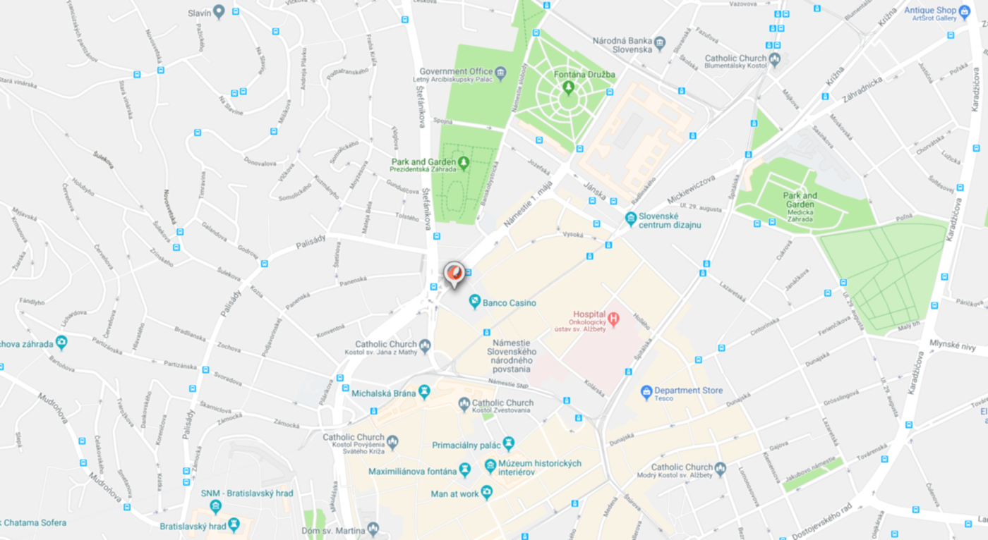 BRATISLAVA office - Google Map