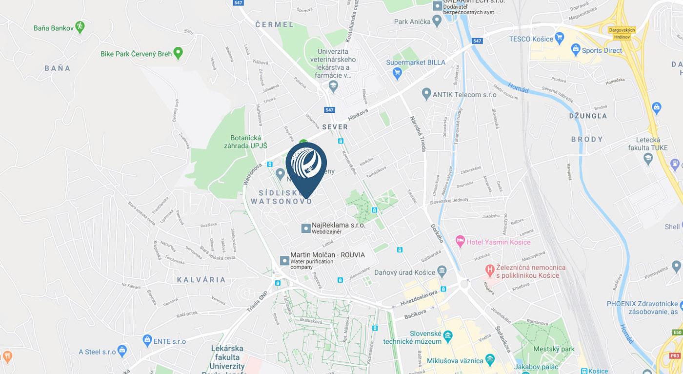 KOŠICE office - Google Map